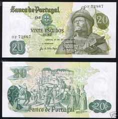 Notas de Portugal e Estrangeiro World Paper Money and Banknotes Old Coins, Rare Coins, Belgian Congo, Money Notes, Coin Collecting, Vintage World Maps, Paper, Singapore Dollar, Bank Deposit