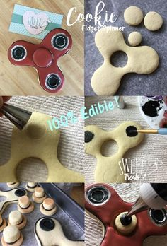 how to make fidget spinner cookies that spin