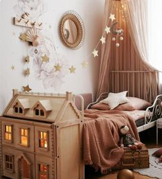 Stylish & Chic Kids Room Decorating Ideas – for Girls & Boys Atemberaubende Kinderzimmer Deko-Ideen Childrens Room Decor, Baby Room Decor, Bedroom Decor, Childrens Bedrooms Girls, Kid Bedrooms, Nursery Decor, Nursery Ideas, Kid Decor, Baby Room Art