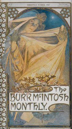 ALPHONSE MUCHA (1860-1939) THE BURR MCINTOSH MONTHLY. Magazine cover. 1907.