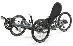Scorpion fs (Full Suspension), foldable action trike in blue shade grey