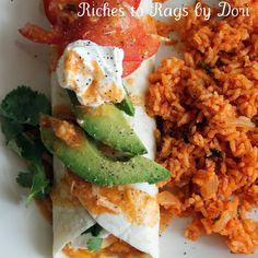 Chicken enchilada burritos! Sounds delish!