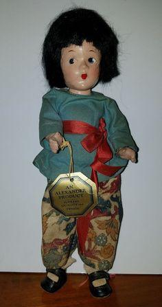 Madam Alexander Original 1939 New York World's Fair Composition Doll Tagged #Dolls