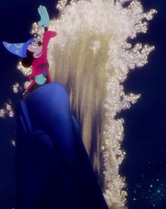 Mickey commanding the elements in Fantasia