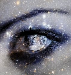 Moon and star lustre in her eye