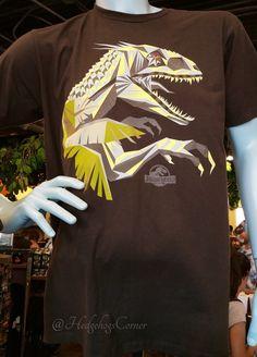 Jurassic World JW Universal Studios Exclusive Adult Indominus Rex Brown T Shirt - T-Shirts
