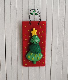 Miniature Christmas Tree Wall Hanging by LittleThingsByAnna