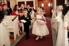 Lavender wedding ring bearer and flower girl.