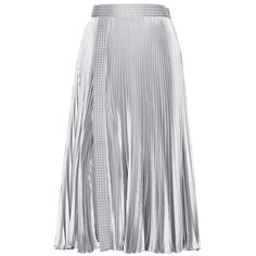 Christopher Kane Embellished Metallic Pleated Skirt (€1.025) ❤ liked on Polyvore featuring skirts, christopher kane, pleated skirts, silver, юбки, metallic skirts, silver pleated skirts, embellished skirts and metallic pleated skirt