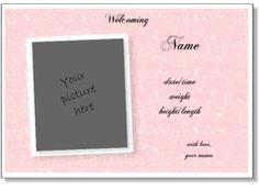 template birth announcement