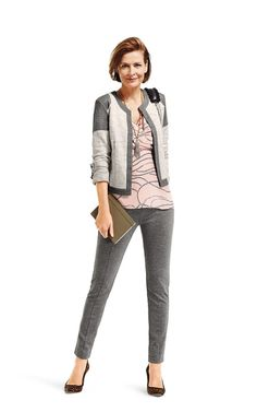 Ready for Work or Play! Shrunken Blazer over the fab Sophia Cami, with Newport Pant CAbi Spring 2015 Collection