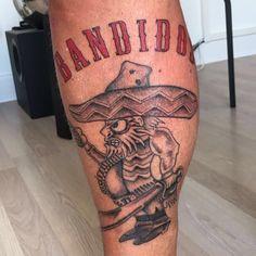 "252 Likes, 10 Comments - Rasmus Lykke (@rl_bmc) on Instagram: ""New leg piece! #BFFB #tattoo #ink #bestmcintheworld #bandidos #bandido #kingofclubs #onepercenter"""