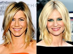 BED-HEAD BOB  Jennifer Aniston and January Jones take a short-cut to sexy, tousling their bobs to a perfect bed-head finish.