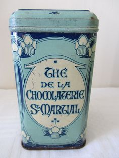 Rare Antique French Tea Tins Canisters Home by PoitouBrocante, €85.00