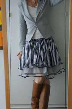 Think ruffled layerd skirts 4 spring