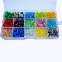 450pcs 8MM Natural Round Stone Beads Genuine Real Stone Beading Loose Gemstone Beads Hole Size 1mm DIY Smooth Beads for Bracelet Necklace Earrings Jewelry Making,Box Packed 15 Material, 8mm