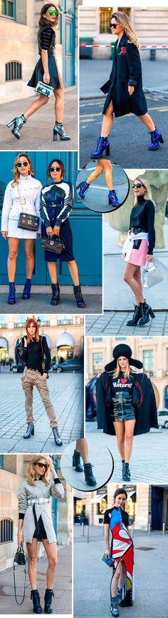 a bota da louis vuitton que é tendencia no street style 2016