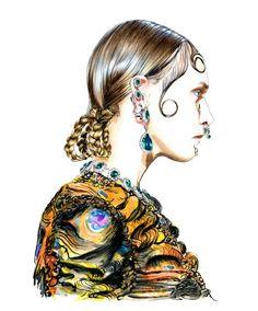 Illustration.Files: Givenchy F/W 2015 Fashion Illustration by Lidia Luna