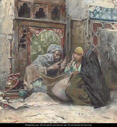 "Charles Wilda (Austrian, 1854-1907)  ""The story teller"""