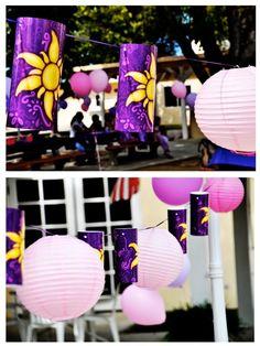 Tangled Party lantern decor summerspastryperfect.com