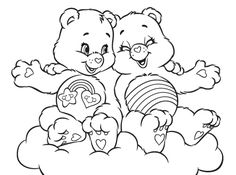 """care bear heart coloring pages 