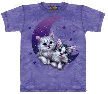 Kittens On A Crescent Moon Girl's Tee[kittenmoon]  Model: kittenmoon   Price : Regular Price: $14.99 Sale Price: $6.00
