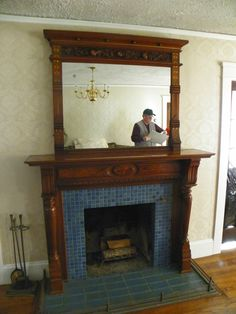 Vintage Wood Antique Mantel Mirror Fireplace Circa 1930 Local Pick Up Only Vintage Mantle, Antique Mantel, Vintage Wood, 1930s Fireplace, Victorian Fireplace, Mantel Mirrors, Fireplace Mirror, Fireplace Mantles, 1930s House Interior