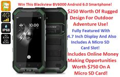 Win This Fantastic Rugged Blackview BV6000 Android 6.0 Smartphone!   Rugged Smartphone With Dual SIM 4G & 13MP Camera For Outdoor Adventure! Includes Online Money Making Products On SD Card! Thanks to @WorkAtHome_Info and @appzthatrock: Enter Here NowDavid Wills BlackView BV6000 Android Smartphone from Pocket http://ift.tt/2cFVgzI via IFTTT IFTTT international giveaway Pocket sorteo internacional