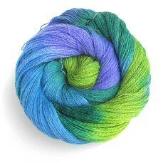 Alpaca Yarn Hand Dyed Baby Alpaca Lace Yarn  Blue by FiberFusion