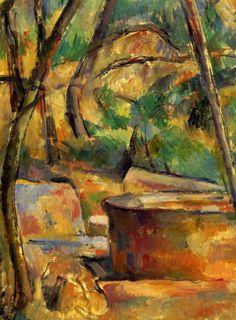 Paul Cézanne - La Meule et citerne en sous-bois, 1892-94. Oil on canvas