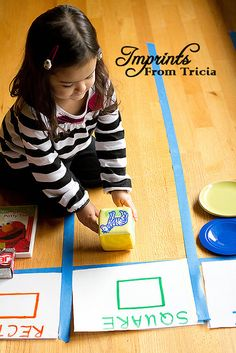 Help your kids learn shapes: Play shape matching using objects from around the house.  #ece #preschool