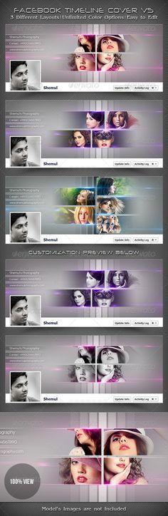 Photographer's FB Timeline Cover V5  #GraphicRiver          Photographer's…