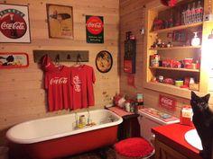 2 coke bedding shower curtains towels on pinterest - Bathroom coca cola shower curtain ...