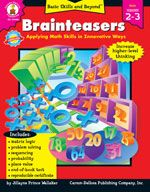 Build higher-level thinking and processing skills with fun puzzles and problems using Brainteasers! This book includes matrix logic, s. Logic Problems, Math 2, Basic Math, Carson Dellosa, Math Skills, Brain Teasers, Second Grade, Grade 2, Problem Solving