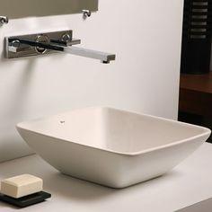 Un lavamanos triangular sobre tope de la marca deca - Lavamanos para banos ...