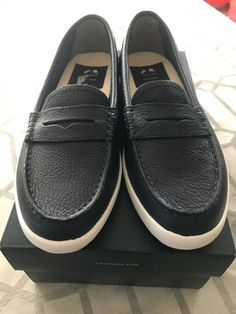 BLACK LADIES FAUX LEATHER  FLAT  SLIP ON SHOES UK SIZES 4//8 BRAND NEW BOXED
