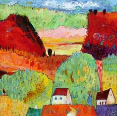oh, what a world, what a world...:Echo Valley, acrylic on canvas - jane filer