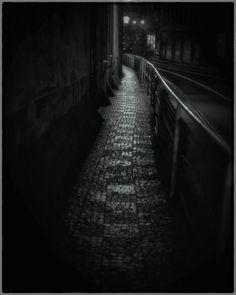 "Lonely street in Prague.3 am. Nikon, 50mm. Photo by Nikki Sixx. He says: ""I'm a Recovering addict. Camera's are my new drug."" http://nsixxfoto.tumblr.com/post/9415392629        Nikon,50mm  ©Nikki Sixx"