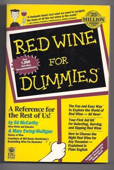 NEW Red Wine for Dummies by Ed McCarthy & Mary Ewing-Mulligan (1996, Paperback) in Books | eBay