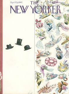 The New Yorker - Saturday, April 5, 1947 - Issue # 1155 - Vol. 23 - N° 7 - Cover by Constantin Alajálov (November 18, 1900 - October 23, 1987) was an American painter and illustrator. He was born in Rostov, Russia and immigrated to New York City in 1923, becoming a US citizen in 1928. Many of his illustrations were covers for such magazines as The New Yorker, The Saturday Evening Post, and Fortune.