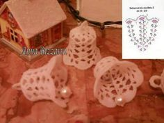 dzwonek na Stylowi.This is another Christmas ornament for you to crochet this season! Crochet Christmas Decorations, Christmas Crochet Patterns, Crochet Ornaments, Crochet Decoration, Crochet Snowflakes, Handmade Decorations, Crochet Crafts, Christmas Charts, Christmas Bells