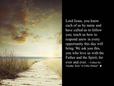 Lord Jesus, you know each of us by name and have called us to follow you; teach us how to respond anew... #GC78
