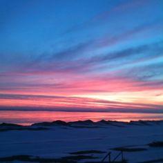 Sunrise on Lake Huron in the Winter