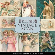 Far Far Hill - Free database of digital illustrations and papers: Freebies Vintage Angels Cards