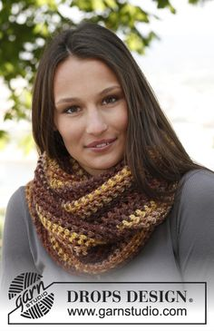 "Crochet DROPS neck warmer in ""Big Delight"". ~ DROPS Design"
