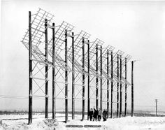 Corner reflector radio antennas - Canadian National Telecommunications 1956