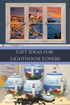 Gift Ideas for Lighthouse Lovers The best gifts for lighthouse lovers are gifts they can use around the home.  Therefore consider giving cool, fun and trendy lighthouse home decor as gifts for family and friends who love light houses.  This is especially true if they once lived near the ocean.  I used to live in Maine therefore miss visiting Maine Light Houses along with Florida lighthouses when I lived in Florida.  Using Lighthouse home decor is perfect for modern, beach, tropical
