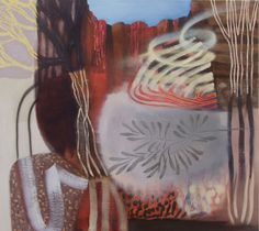 Emma Walker  Canyon  oil on canvas  123 cm x 137 cm  From Art Piece Gallery
