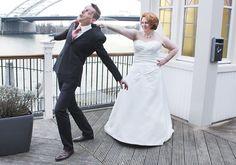 Hier blijven! #funnyweddingpicture #gekkebruidsfoto