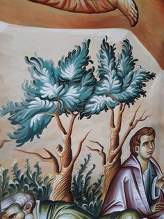 Byzantine Icons, Byzantine Art, Paint Icon, Religious Icons, Orthodox Icons, Tree Art, Character Art, Art Drawings, Graphic Design